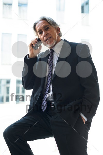 business man with mobile phone - franky242 photography