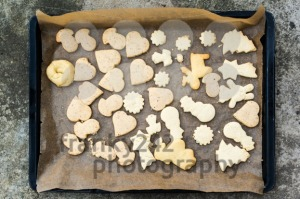 childrens christmas cookies on a tray - franky242 photography