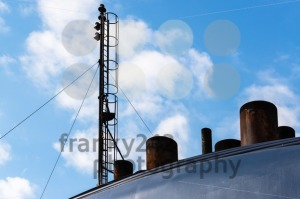 chimneys and antenna of a ferry - franky242 photography