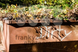 dirty old metal waste container - franky242 photography