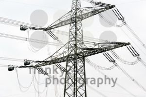 high voltage power pole construction works - franky242 photography