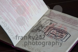 passport with stamps - franky242 photography