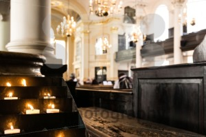 prayer candles in the church - franky242 photography