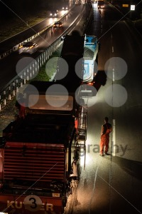 road works, removal of old asphalt pavement at night - franky242 photography