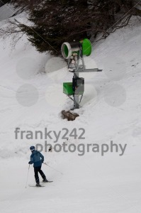 snowgun and skier - franky242 photography