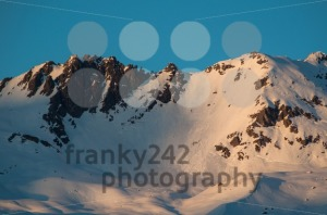 sunset in winter mountains landscape - franky242 photography