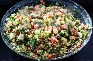 tabbouleh made of couscous and various vegetables - franky242 photography