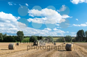 tractor generating hay rolls - franky242 photography