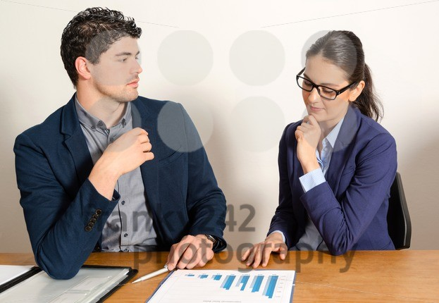 two young business people discussing - franky242 photography