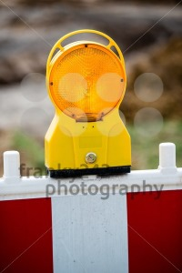 yellow signal lamp on construction site - franky242 photography