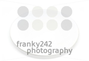 Empty white plate on a white background - franky242 photography
