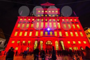 Illuminated town hall of Augsburg, Germany - franky242 photography