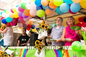 Claudia Roth and Cem Oezdemir on Christopher Street Day in Stuttgart, Germany - franky242 photography