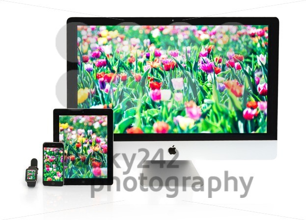 Multiscreen – Apple Watch, iPhone, iPad and iMac screens - franky242 photography