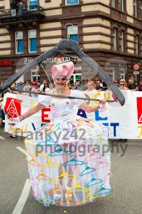 Participant of Christopher Street Day 2015 in Stuttgart, Germany in great costume - franky242 photography
