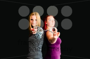 two young women with handcuffs - franky242 photography