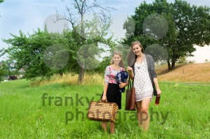 Two girls getting ready for a picnic - franky242 photography