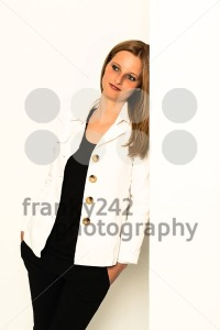 young woman leaning against awall - franky242 photography