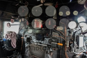 inside the cab of a classic steam locomotive - franky242 photography