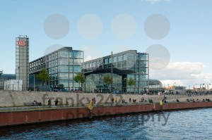 Central train station in Berlin, Germany as seen from the river Spree - franky242 photography