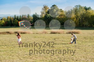 Cute children flying a kite - franky242 photography