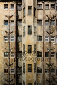 Facade of a  rundown old building - franky242 photography