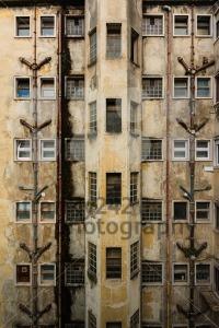 Facade of a  rundown old building - franky242 photography