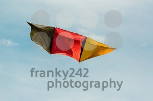 German kite flying in blue sky - franky242 photography