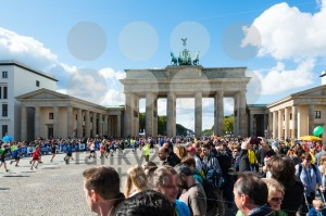 Participants of Berlin Marathon finishing at the Brandenburg Gate - franky242 photography