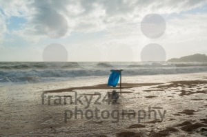 Trash can on the beach - franky242 photography