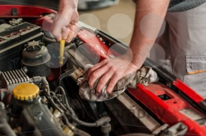 Checking for engine oil on a car - franky242 photography
