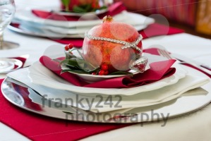 Decorated Christmas Dinner Table  - franky242 photography