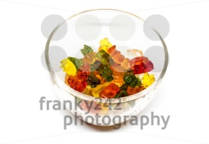 gummy bear candies in a glass bowl - franky242 photography