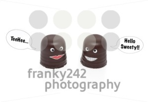 two chocolate marshmallows having a conversation - franky242 photography
