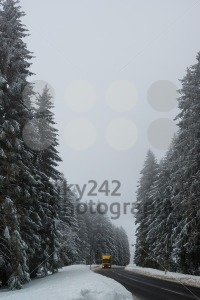 Lorry driving on winter road  - franky242 photography