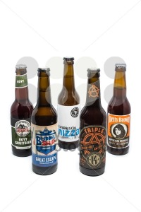 Assortment of 5 craft microbrew beers - franky242 photography