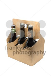Assortment of craft microbrew beers in a sixpack - franky242 photography