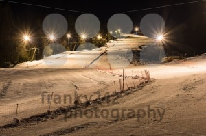 Night skiing on a clear night - franky242 photography