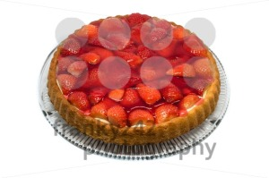 tart with cream and fresh strawberries  - franky242 photography