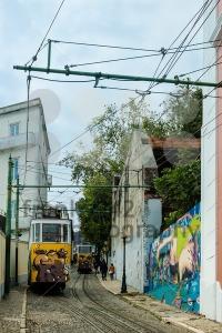 Historic classic yellow tram of Lisbon  - franky242 photography