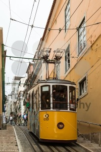 Historic classic yellow tram of Lisbon  - franky242 photography