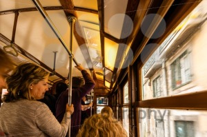 Inside a traditional old tram of Lisbon - franky242 photography