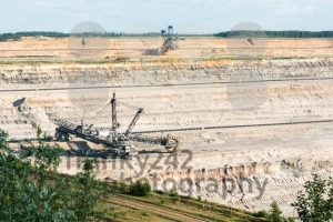 Bucket-wheel excavator digging lignite (brown-coal) - franky242 photography