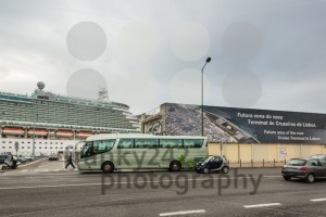 Cruise ship at the future cruise terminal of Lisbon, Portugal - franky242 photography