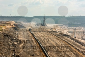 Large machinery at work in a lignite (browncoal) mine - franky242 photography