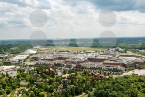 aerial view of the shopping center Centro in Oberhausen, Germany - franky242 photography