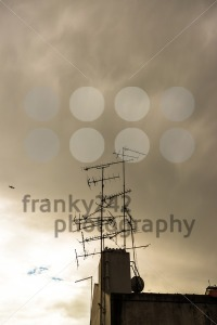 televisions antennas with sunset - franky242 photography