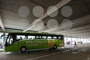 A long distance bus by Mein Fernbus in the new Stuttgart Central Bus Station - franky242 photography