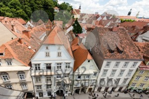Beautiful old buildings in Graz, the second-largest city in Austria and capital of fthe ederal state of Styria. - franky242 photography