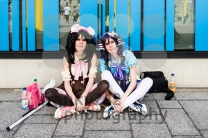 Cosplayers resting during Comic Con Germany in Stuttgart - franky242 photography